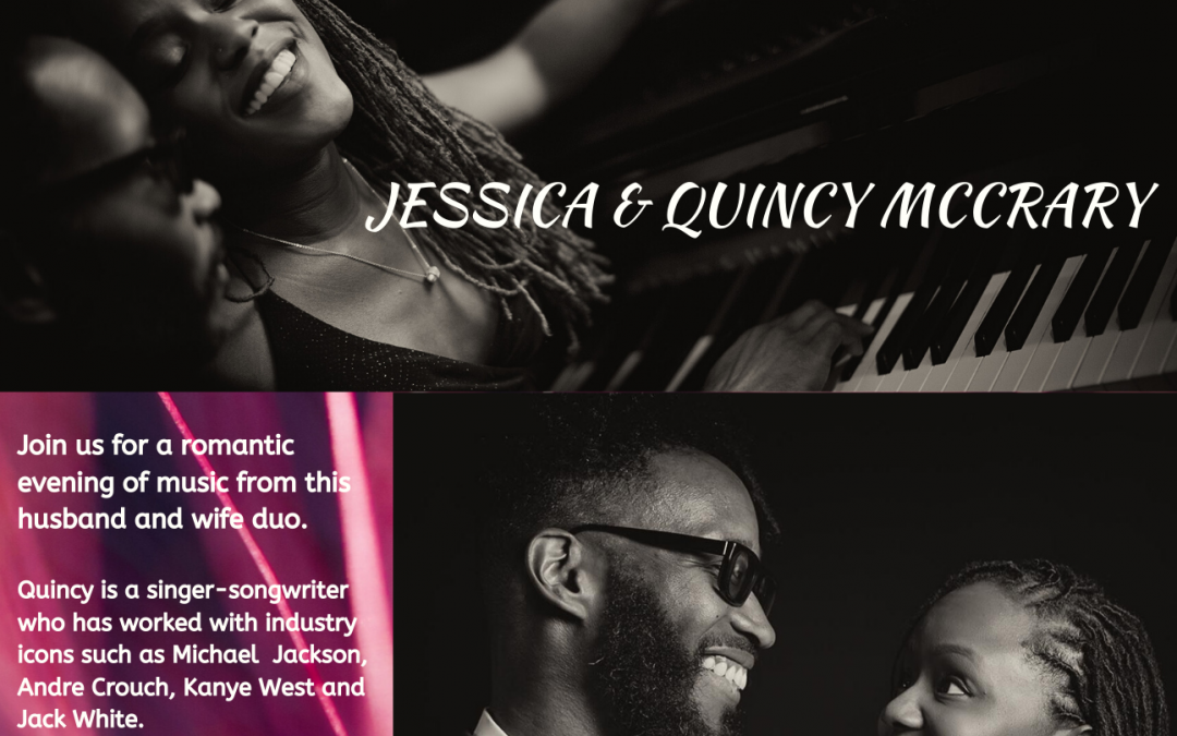 Jessica and Quincy McCrary perform at the UUCA Coffeehouse
